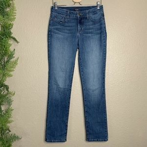 NYDJ Sheri Slim Leg Jeans Medium Wash High Rise 4